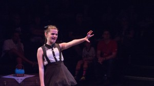 Lilah Guaragna as Alice at Zach Theatre.